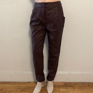 """ASOS """"leather"""" trousers"""